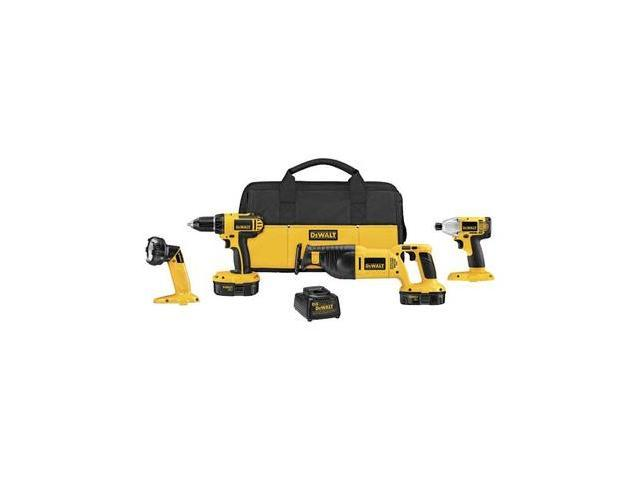 Refurbished: Factory-Reconditioned DCK425CR 18V Cordless 4-Tool Compact Combo Kit