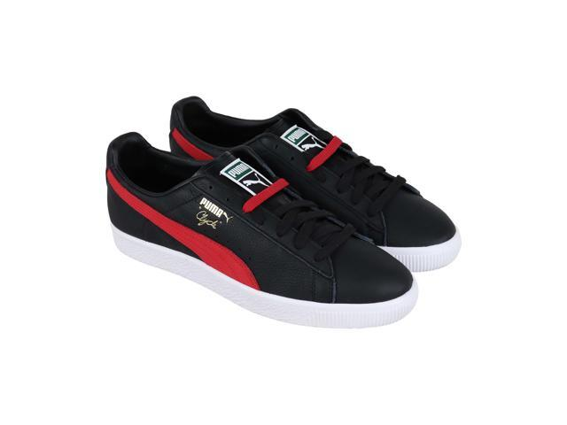 4db7489a Puma Clyde Core Black High Risk Red White Mens Low Top Sneakers - Newegg.com