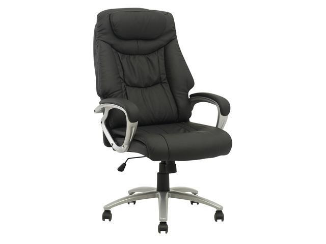 High Back Executive Leather Ergonomic Office Computer Task Chair w/Metal Base 13