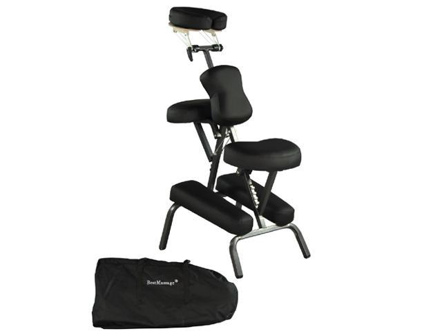 Premium BestMassage Black 4 inch Portable Massage Tattoo Spa Chair with Free Carry Case