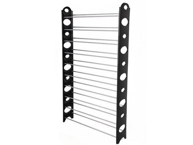 50 Pair Free Standing 10 Tier Shoe Tower Rack Organizer Space Saving Shoe Rack