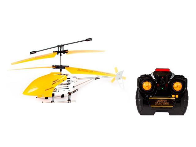 Night Hunter 2-Channel Glow-in-the-Dark Gyro Remote Control RC Helicopter (Orange)