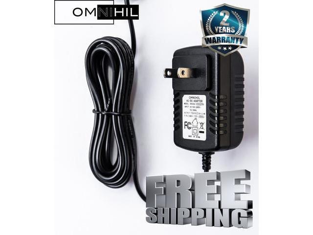OMNIHIL AC/DC Power Adapter/Adaptor for Logitech Steering Wheels P/N  190211-A030 Replacement Switching Power Supply Cord Cable PS Wall Home  Charger