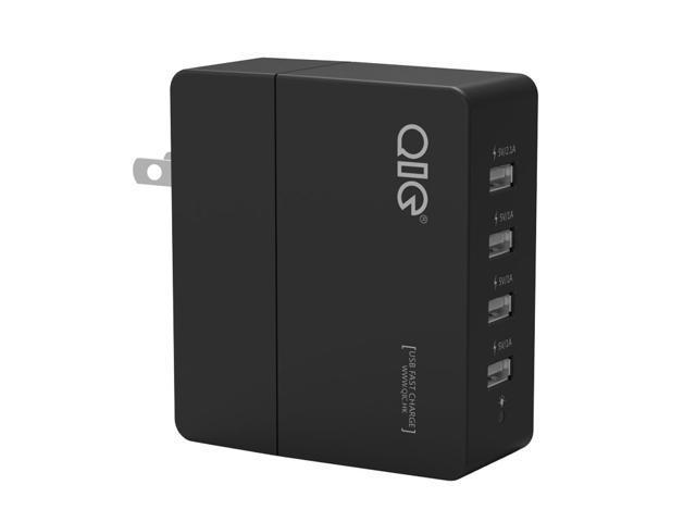 QIC WH4U-5A 25W 4 Ports USB Wall Travel Charger