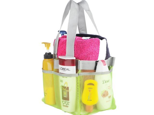 Shower Caddy - Quick Dry Hanging Toiletry and Bath Organizer with 7 ...