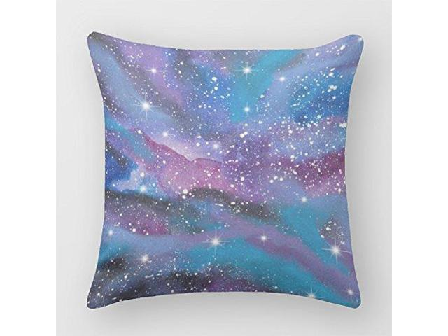 Follies Square Decorative Pillow Cover Starry Nebula Cushion Covers Stunning 36 Inch Square Pillow Cover