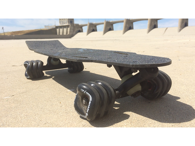Shark Wheel Rover   100% Carbon Fiber Mini Skateboard