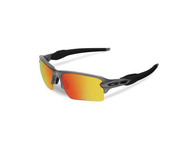 093dfd377a494 Oakley Flak OO9188-10 Grey Smoke Fire Iridium Polarized New - Newegg.com