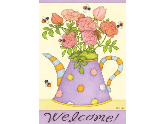 "Berry Bounty Spring Garden Flag Waterpump Foral 12.5/"" x 18/"" Briarwood Lane"