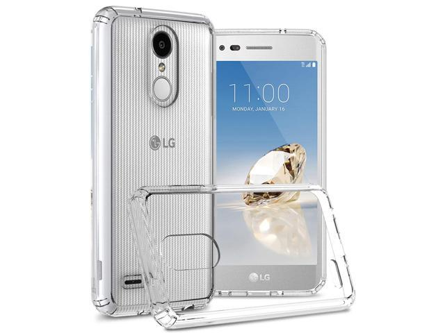 LG Tribute Dynasty Phone Case Clear, LG Zone 4 Case Clear, LG Aristo 2  Clear Case, CoverON CleaGuard Series Hard Slim Fit Phone Cover with TPU  Grip
