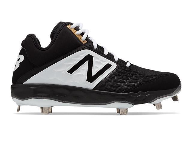 7f8c7928642ce New Balance Mens Baseball Fresh Foam Mid-cut 3000v4 Metal Black With White  Size 7.5