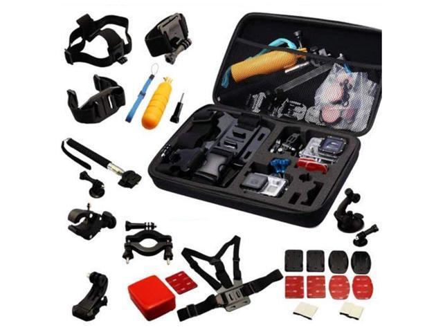 Navitech 30-in-1 Action Camera Accessories Combo Kit with EVA Case  Compatible with The Excelvan TC-DV6| TC-Y8| TC-J6| TC-Q5| Q5| Q6 2 0| Q8 4K  WiFi