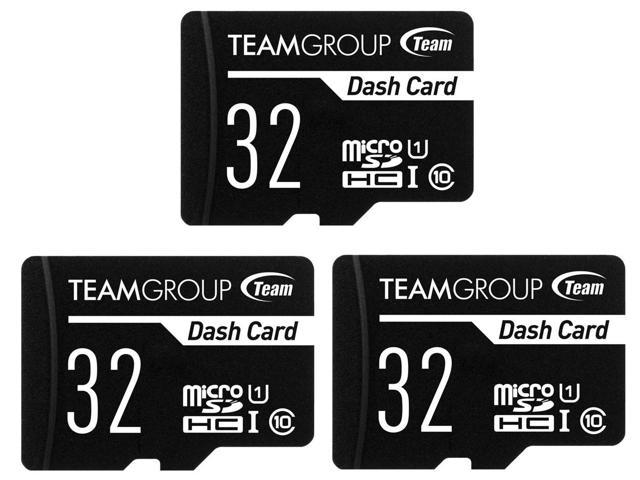 3-Pack TeamGroup Dash Card Class 10 UHS-I/U1 32GB Memory Cards