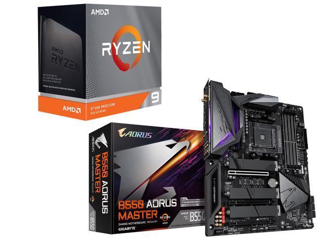 AMD Ryzen 9 3900XT 12-Core 3.8 GHz Desktop Processor + GIGABYTE B550 AORUS MASTER Motherboard