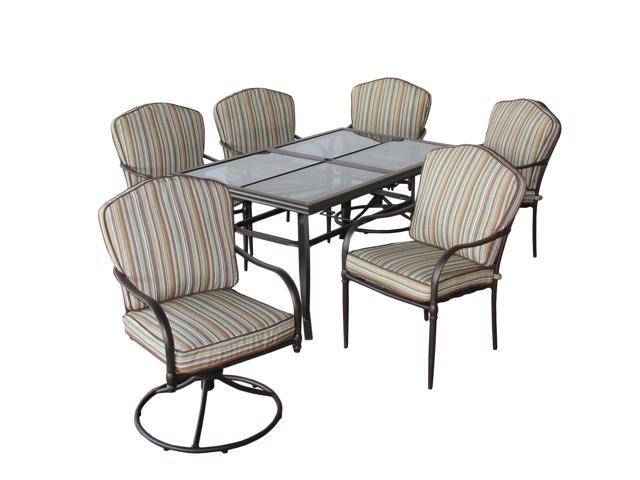 Rosewill Home 7-piece Heritage Outdoor Patio Set w/6 Dining Chairs