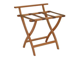 Wooden Mallet Wall Saver Home Luggage Storage Rack Holder Stand Furniture  In Polyester Tan Webbing Solid