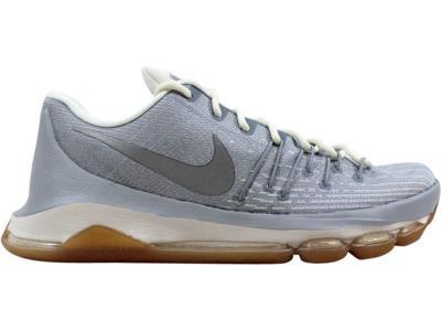 3630f11b01b Nike Men s KD 8 Wolf Grey Metallic Silver-Sail-White Easter 749375-