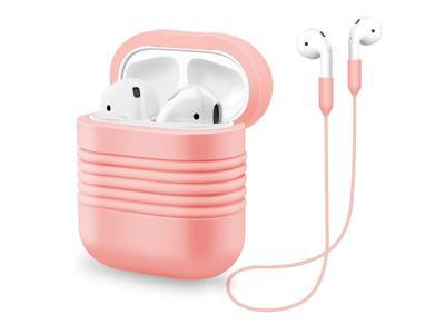 Sahiyeah Compatible for AirPods Case, Silicone Protective Cover Shockproof Dustproof Soft Skin with Sports Strap