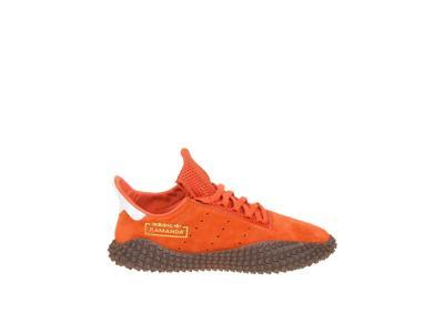 b6c42a383c6e5 ADIDAS MEN S DB2776 ORANGE SUEDE SNEAKERS