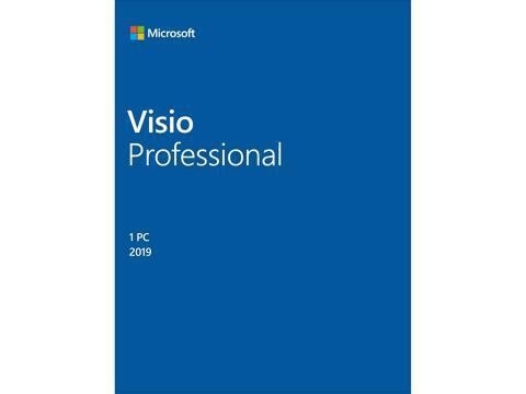 Microsoft Visio Professional 2019 Product Key Card - 1 PC
