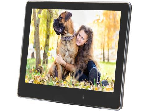 com viewsonic vfm820 50 8 ultra slim 800x600 digital photo frame calendarclockalarm auto onoff light sensor built in