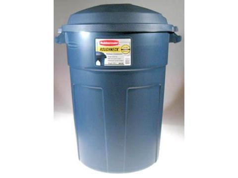 com rubbermaid roughneck trash can 32 gallon pack of 8