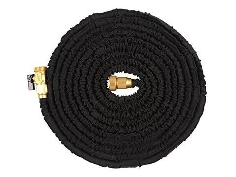 Com Ohuhu 150 Ft Super Strong Garden Hose Expandable Feet With All Br Ends And Connector Black