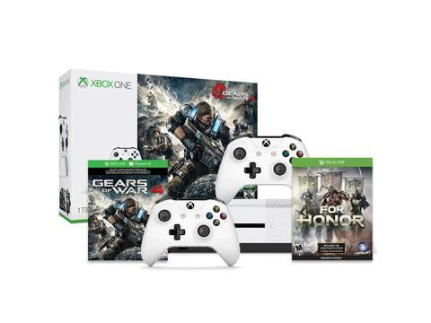 Microsoft Xbox One S Gears of War 4 1TB Standard Edition Console Bundle with Ubisoft For Honor Day 1 and Microsoft Xbox Wireless Controller