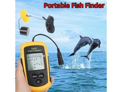 fish on a depth finder