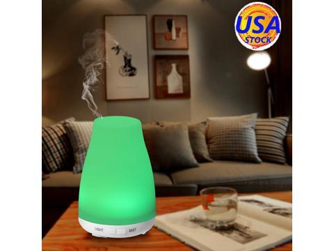ELEGIANT 100ml Air Oil Diffuser Aroma Essential Ultrasonic Mist Air Humidifier with Color Changing LED Lights Portable for Home Yoga Office Spa Baby Room