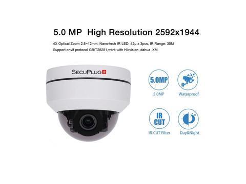 5 0MP Mini PTZ IP Camera Super HD 2592x1944 Pan/Tilt 4X Zoom IR Dome Camera  PoE MG03AR-5 0MP