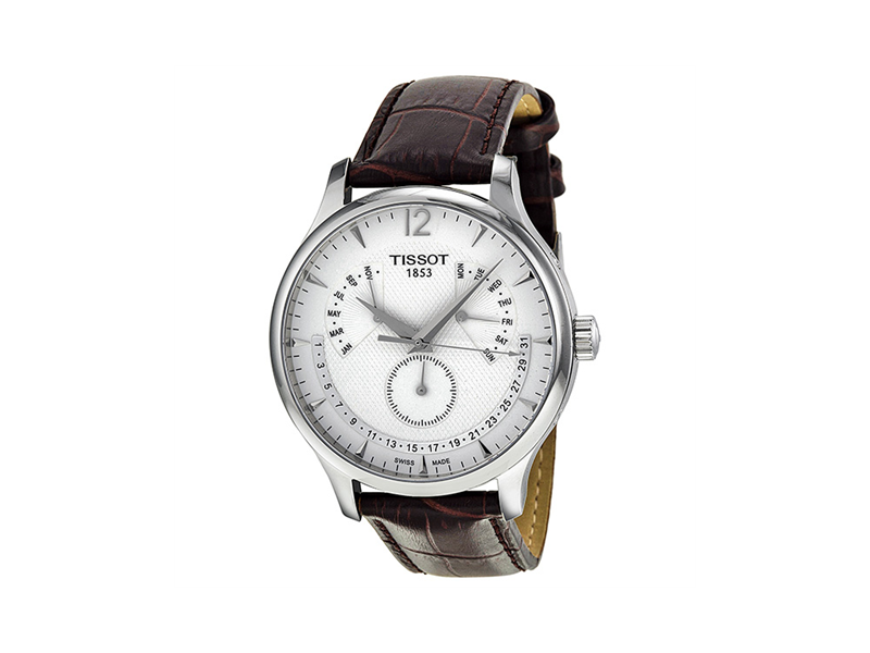 newegg com tissot tradition silver dial stainless steel case 1 1